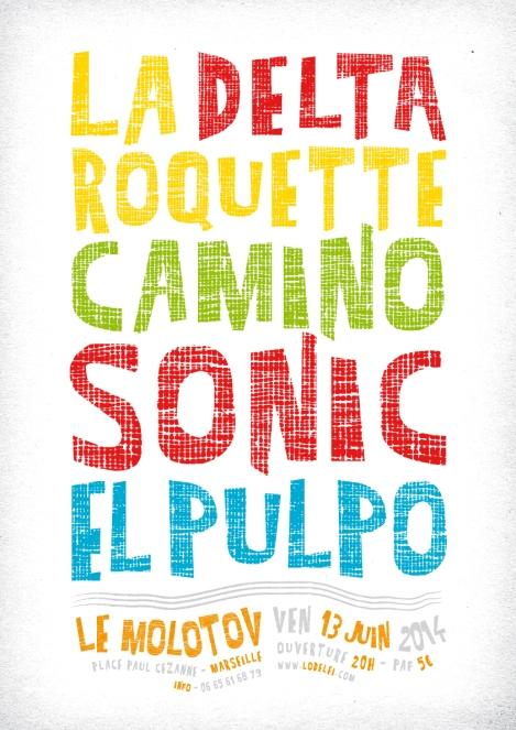 Affiche Concert du 13 juin - Molotov